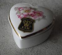 Vintage Small E&R Golden Crown W Germany Gerold Bavaria Flower Trim Ring Box