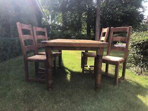 oak farmhouse kitchen table chairs