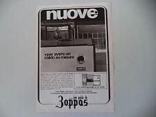 advertising Pubblicità 1968 ZOPPAS STUFE A KEROSENE/GAS/LEGNA O CARBONE