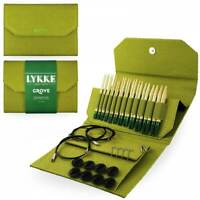 "Lykke ""Grove"" Bamboo 5"" Interchangeable Circular Knitting Needles Set - Green"