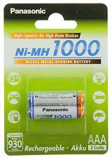 2x Akku Panasonic AAA Micro für Philips Kopfhörer SHC 5100 8535 8575 SBC HB550L