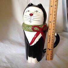 Oneida Christmas Cat Latte Mug Tuxedo Kitten Tea Cup