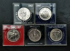 5 Coin set of BU Commemorative Crown Coins 1965 - 1981 Royal Mint. POLISHED!