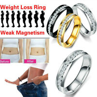 Magnetic Crystal Healthcare Weight Loss Ring Slimming Healthy Ring Jewelry GR.ch