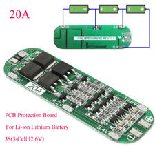 20A 12.6V Cell 18650 Li-ion Lithium Battery Charger BMS Protection PCB Board UK