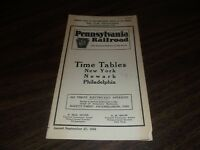 SEPTEMBER 1936 PRR PENNSYLVANIA RAILROAD FORM 5 NEW YORK TO PHILADELPHIA