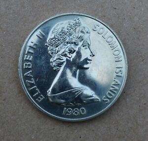 1980 SOLOMON ISLANDS $10 PROOF STERLING SILVER - Handled Condition -