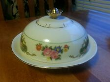 Victoria Czechoslovakia VIT73 Covered Butter or Cheese dish inside dish1919-1939