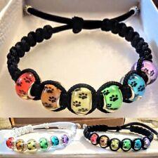 Rainbow Bridge Pet Loss/Memorial Paw Print Jewelry Bracelet (1 Pc)