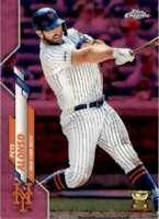 2020 Topps Chrome Pink Refractors Pete Alonso #80 Tw3983