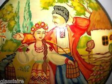 Vintage Russian Lacquer Wood Box Fairy Tale Folklore