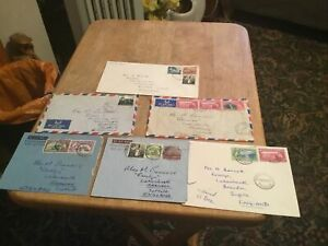 Trinidad & Tobago 6 X Postal History Envelopes