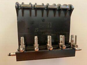 NOS Penn Plax LOK-TITE Brass Gang Valve 5 1/2 for Aquarium Fish Tank Air Pump