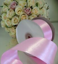 Pink Satin Wedding Car Ribbon 50 Mm Wide X 7 MTR Wide. High Quality Post