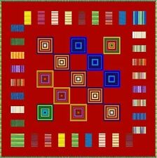 """ELECTRIC BOOGALOO - Red - 58"""" - Quilt-Addicts Pre-cut Patchwork Quilt Kit Lap"""