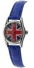 Ladies Childs Union Jack Blue Strap Fashion Quartz Watch bxd 15b