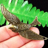 2pcs 71x40x4mm Carved Brass Bronze Bird Pendant Bead YJ94062