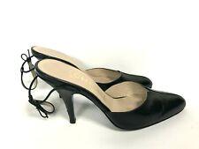 Chanel Sling Back Shoes Pumps Pointy Toe  Black EUR 35
