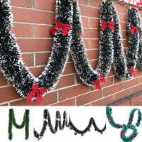 200CM CHRISTMAS TINSEL GARLAND PARTY PINE TREE GREEN RIBBON XMAS ORNAMENT SMART