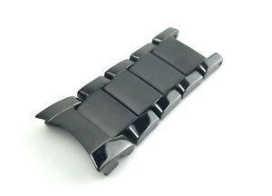 For EMPORIO ARMANI AR1452 Ceramic Black Top/Shoulder Links Strap/Band Watch 22mm