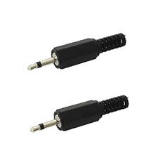 2 Fiches Jack 2,5 Mono Mâle Capot Plastique Guide Fil Connections à Souder