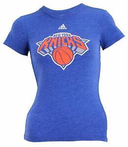 Adidas NBA Youth Girl's New York Knicks Short Sleeve Primary Logo Tee