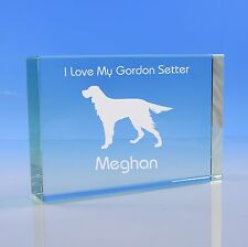 More details for gordon setter dog lover gift personalised engraved quality glass paperweight