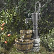 Old Fashioned Pump Water Fountain Garden Electric Portable Lawn Tiered Barrels