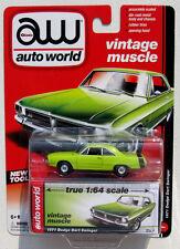 AUTO WORLD 1971 DODGE DART SWINGER #1 Green 1:64 VINTAGE MUSCLE RELEASE 1 A