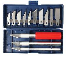 Set 16pc Hobby Precision Knife Art Craft Cut & Trim 3-Handles & 13 Blades Boxed
