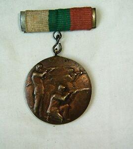Medal badge sport shooting pistol third place 1947 Bulgaria rare