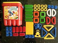 Large Bucket Of Playskool Stickle Bricks Complete With All 46 Bricks Age 1+