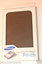 Original Samsung EFC-1J9LBE Leder Tasche Pouch für Galaxy Note 2 N7105 in Navy
