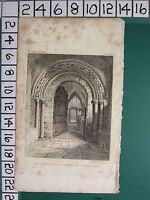 C1830 Piccolo Antico Stampa ~ West Ingresso A Cuddesdon Chiesa ~ Oxon