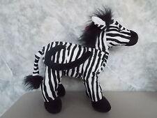 "Vintage 11"" Russ Stuffed Plush Zebra Purse w/Original Tags Never Used"