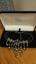 Faux Pearl Vintage Choker Necklace Gothic Steampunk Costume