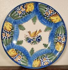 Antique Spanish Tin Glazed Plate Faience Charger 19th C Earthenware Majolica