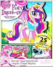 My Little Pony FIM Princess Cadence Wooden Doll Magnetic Dress-Up Set!