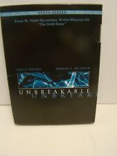 Unbreakable Dvd Set w Special Features and Inserts Bruce Willis & Samuel Jackson