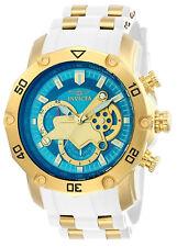 Reloj Invicta Oro Blanco Azul Pulsera Hombre Crystal Bracelet Man Watch Gold
