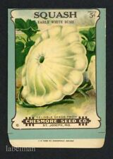 SQUASH, Chesmore Seed Co., St. Joseph MO Antique Seed Packet, Country Store, 378