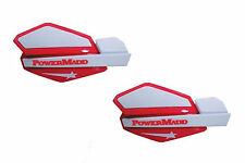 PowerMadd Star Series Replacement ATV Handguards Hand Guards Red White 34222