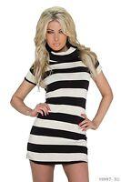Women's Wear Chic Elegant Horizontal Stripes Jumper Mini Dress UK size 8-10