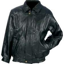 Mens Womens Lambskin Leather Motorcycle Rider Riding Biker MC Jacket Gear Coat