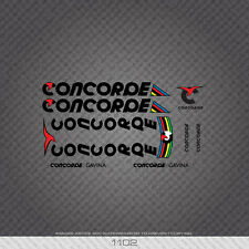 01102 Concorde Gavina Bicycle Stickers - Decals - Transfers - Black