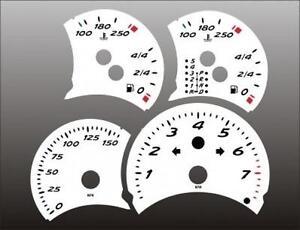 1997-2000 Porsche Boxster Dash Cluster White Face Gauges 97-00