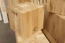 Hocker Sitzklotz Massiv Holzblock Dekosäule Eichenklotz Holz cube 28x28x28cm