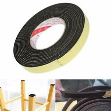 5m x 20mm x 3mm Safety Black Single Sided Adhesive Foam Cushion Tape Closed Cell