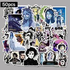 50pcs Graffiti Decal Stickers Tim Burton Classic Skateboard Laptop Vinyl Sticker