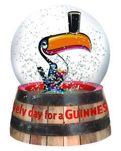 Guinness Toucan Snow Globe 65mm x 95mm (sg)